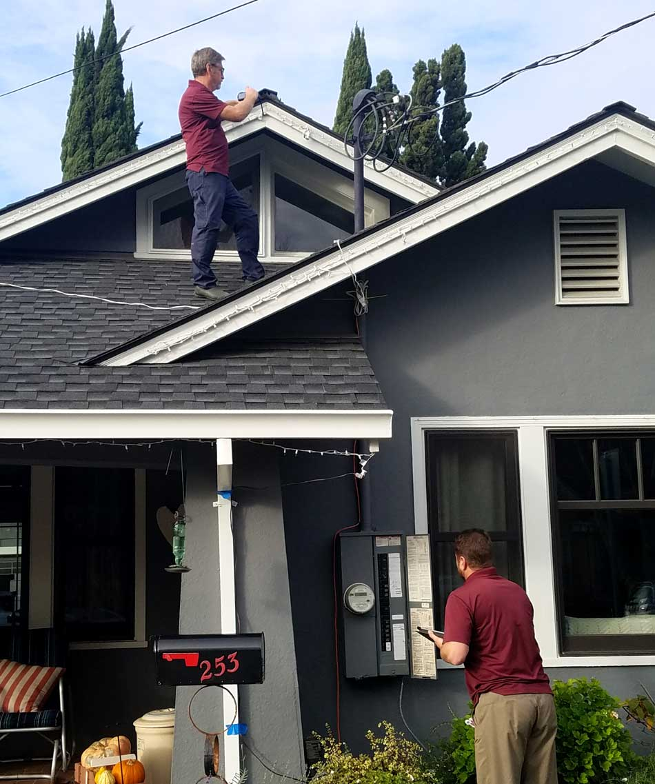 Two Silicon Valley Inspectors on a Home Inspection